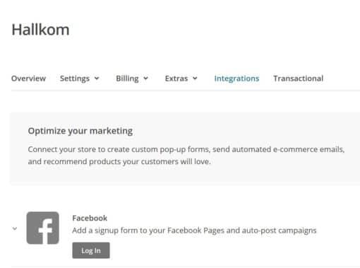 Hallkom-tip Facebook Mailchimp 3