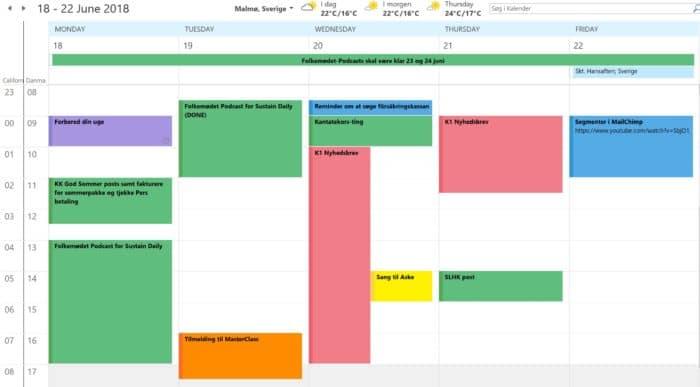 Hallkomtip Outlook Kopier til kalender
