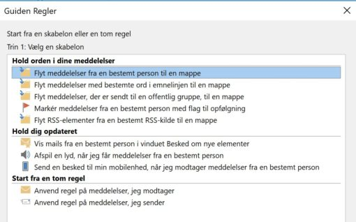 Hallkomtip Outlook Forsink