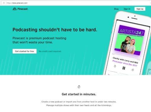 Pincecast hosting