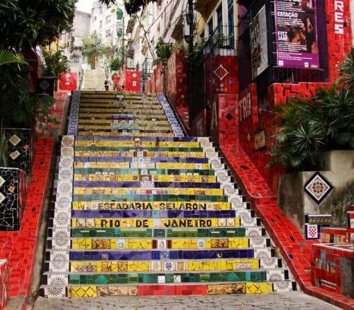 Den berømte trappe Escadaria Selarón