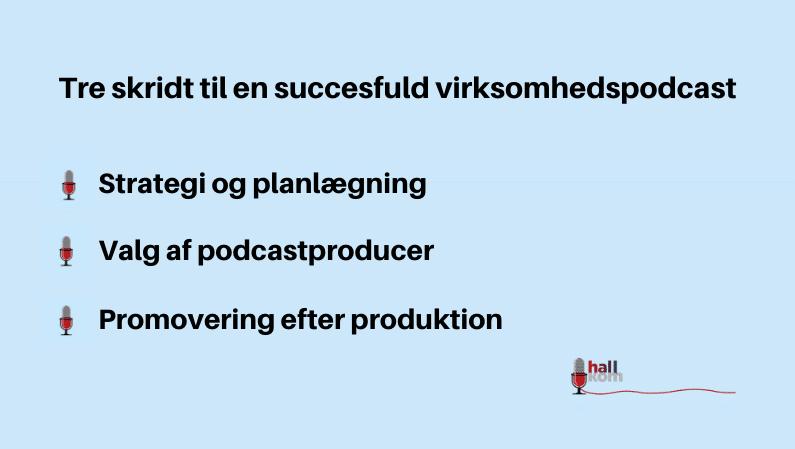 Tre skridt til en succesfuld virksomhedspodcat